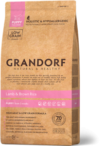 Grandorf Lam & Bruine Rijst – Puppy Alle Rassen 3 kilo